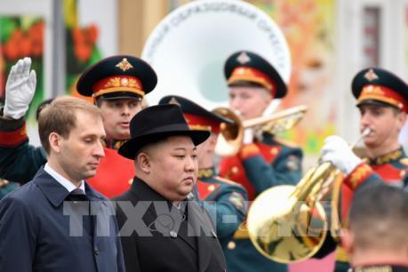 Thượng đỉnh Nga- Triều: Nhà lãnh đạo Triều Tiên đã đến đảo Rusky