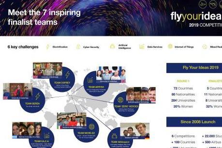 """Airbus chọn 7 đội vào chung kết cuộc thi """"Fly Your Ideas"""""""