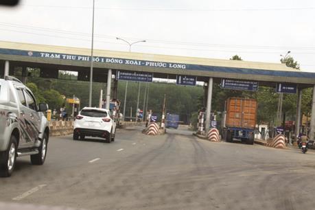 Trạm BOT Đồng Xoài - Phước Long phải xả trạm do lái xe phản đối