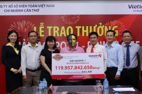 Khách hàng Cà Mau trúng hơn 119 tỷ đồng Vietlott