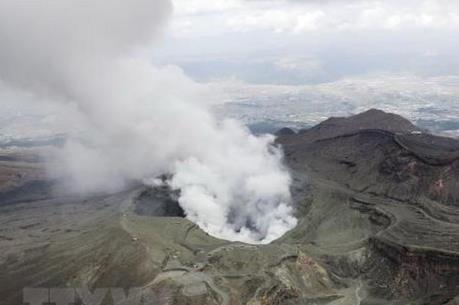 Núi lửa Aso ở Nhật Bản hoạt động trở lại