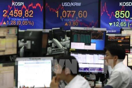 Chứng khoán châu Á nối gót đà giảm trên các thị trường Âu-Mỹ