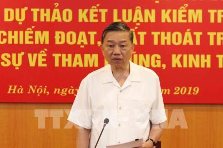 Ban Chỉ đạo Trung ương về phòng chống tham nhũng làm việc với Bộ Tài chính