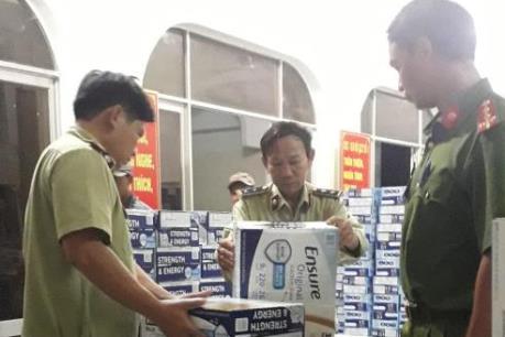 Phú Yên tạm giữ hơn 300 thùng sữa không rõ nguồn gốc xuất xứ