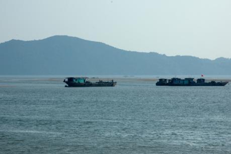 Quảng Ninh thông tin việc khai thác cát ở vùng biển biên giới Móng Cái