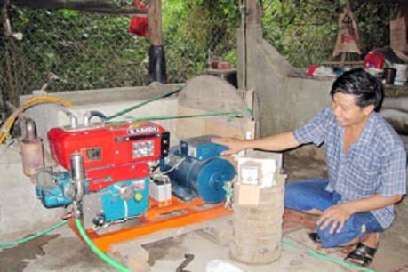 Mô hình sử dụng máy phát điện khí sinh học cho hiệu quả cao