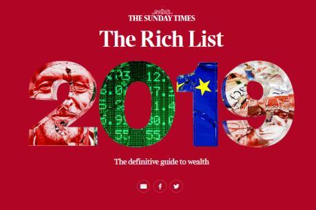 Lộ diện những người giàu nhất nước Anh năm 2019