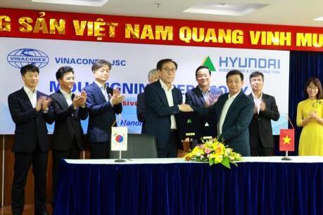 Vinaconex và Hyundai E&C ký hợp tác vươn ra thị trường nước ngoài
