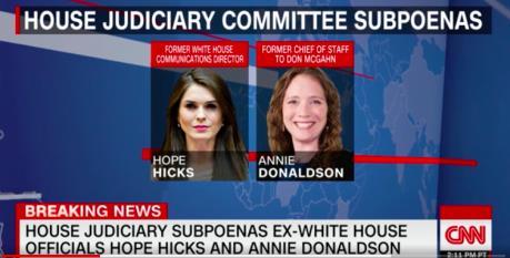 Triệu tập nhân chứng phục vụ điều tra Tổng thống Mỹ cản trở công lý