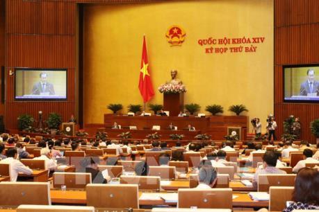 Kỳ họp thứ 7, Quốc hội khóa XIV: Cho ý kiến 3 dự án Luật