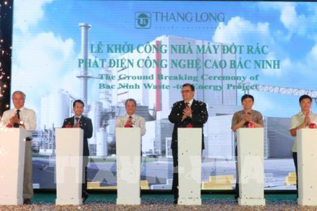 Khởi công nhà máy đốt rác phát điện công nghệ cao đầu tiên ở Bắc Ninh