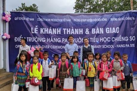 Toyota Việt Nam bàn giao điểm trường ở tỉnh Điện Biên