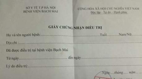 Phá đường dây làm giả giấy tờ của Bệnh viện Bạch Mai