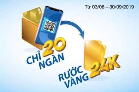 Cơ hội nhận vàng 24k khi thanh toán bằng thẻ Sacombank Visa