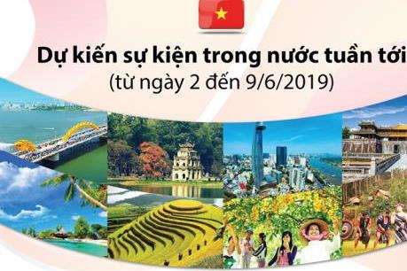 Dự kiến sự kiện trong nước tuần từ ngày 2 đến 9/6/2019