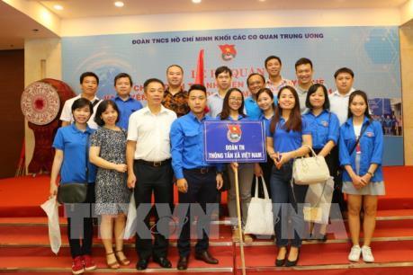 Thanh niên Thông tấn tham gia hiến máu tình nguyện