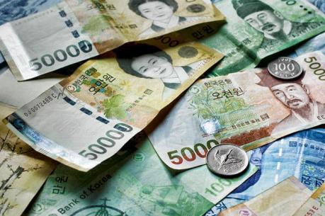 Đồng won Hàn Quốc giảm xuống mức thấp nhất kể từ tháng 1/2017