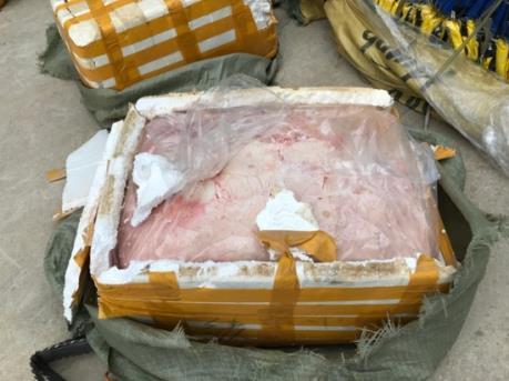 Hà Nội thu giữ hơn 1,3 tấn nầm lợn và nhiều hàng hóa không rõ nguồn gốc