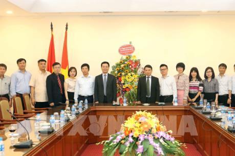 Tổng Giám đốc TTXVN Nguyễn Đức Lợi tiếp Đoàn đại biểu Bộ Thông tin và Truyền thông