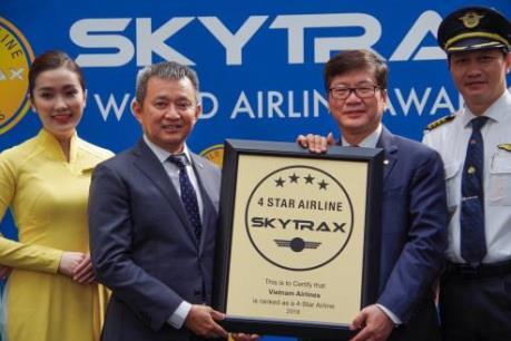 Vietnam Airlines tiếp tục nhận chứng chỉ hàng không quốc tế 4 sao