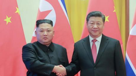 Chủ tịch Triều Tiên hội đàm với Chủ tịch Trung Quốc