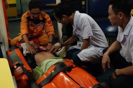 Cứu nạn hàng hải ứng cứu thành công thuyền viên bị tai biến