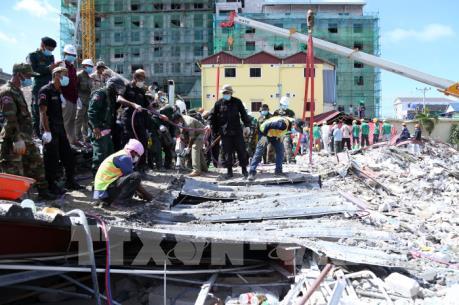 Campuchia  bắt 4 nghi can liên quan tới vụ sập nhà cao tầng