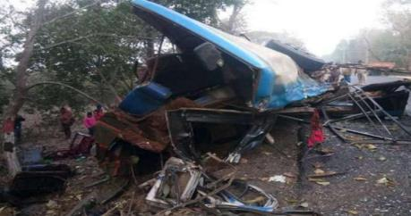 Tai nạn xe bus khiến 60 người thương vong