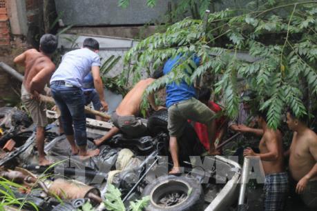 Tai nạn giao thông trên cầu Hàm Luông khiến 5 người thương vong