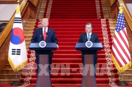 Tổng thống Hàn Quốc tuyên bố sẽ có cuộc gặp thượng đỉnh Mỹ-Triều tại Panmunjom