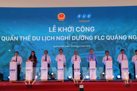 Khởi công dự án Quần thể du lịch nghỉ dưỡng FLC Quảng Ngãi
