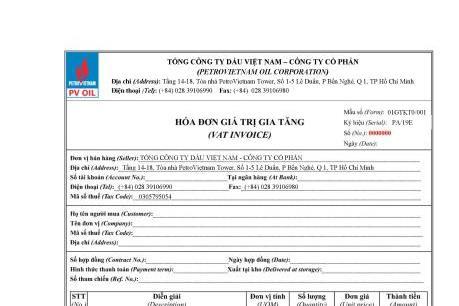 PVOIL chính thức áp dụng hóa đơn điện tử từ ngày 1/7