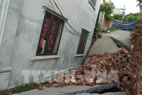 Hà Nội: Sớm xác định nguyên nhân sụt lún nhà ở huyện Mỹ Đức