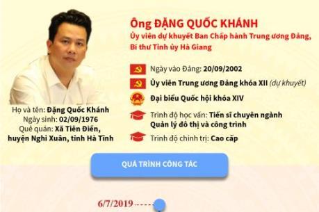 Chân dung tân Bí thư tỉnh uỷ Hà Giang - Đặng Quốc Khánh
