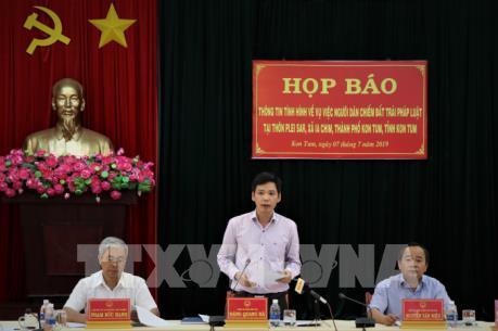 Thông tin chính thức về vụ người dân chiếm đất trái pháp luật ở Kon Tum