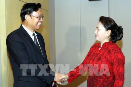 Chủ tịch Quốc hội Nguyễn Thị Kim Ngân tiếp đại diện một số doanh nghiệp Trung Quốc