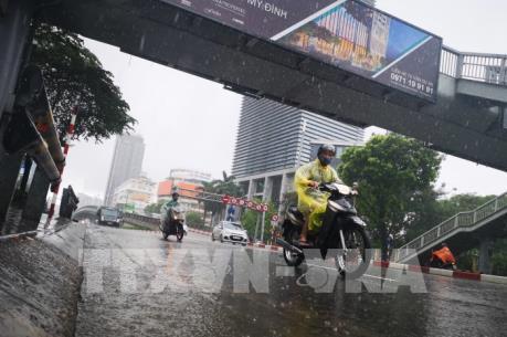 Các khu vực trong cả nước có mưa rào và dông