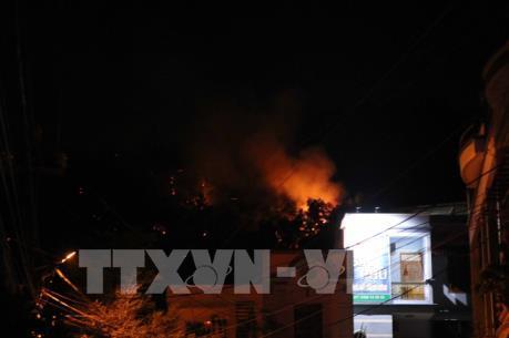 Cháy lớn trên núi Bà Hoả, Quy Nhơn