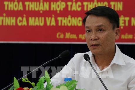 UBND tỉnh Cà Mau ký thoả thuận hợp tác thông tin với TTXVN
