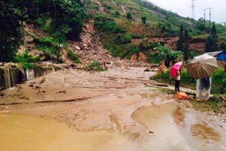 Một nạn nhân bị lũ cuốn trôi ở Cao Bằng