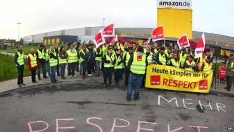 Nhân viên Amazon tại Đức đình công đòi tăng lương