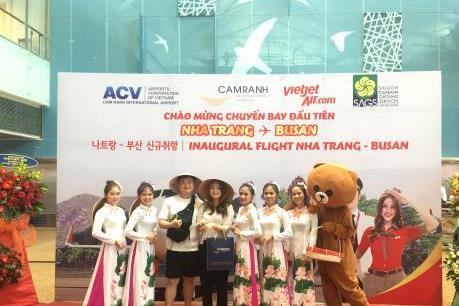 Lần đầu tiên có đường bay thẳng Nha Trang-Busan (Hàn Quốc)