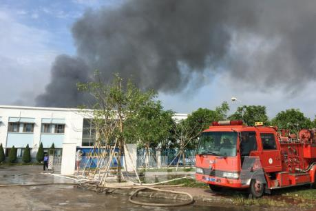 Thông tin mới về vụ cháy nhà xưởng Công ty may mặc Makalot Việt Nam