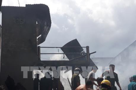 An Giang: Hỏa hoạn thiêu rụi 5 căn nhà ở huyện biên giới An Phú