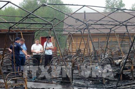 Thương vong trong vụ cháy trại Hè thiếu nhi tại Nga tiếp tục tăng