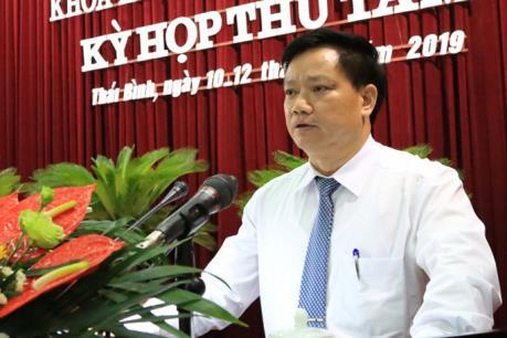 Phê chuẩn kết quả bầu bổ sung Phó Chủ tịch UBND tỉnh Thái Bình
