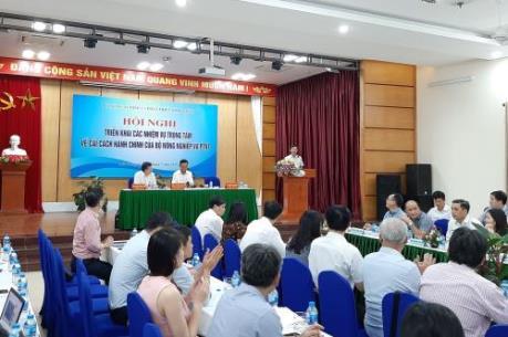 Thứ trưởng Hà Công Tuấn: Không để tăng thêm thủ tục hành chính trong nông nghiệp