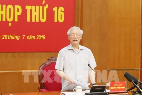 Phiên họp thứ 16 Ban Chỉ đạo Trung ương về phòng, chống tham nhũng