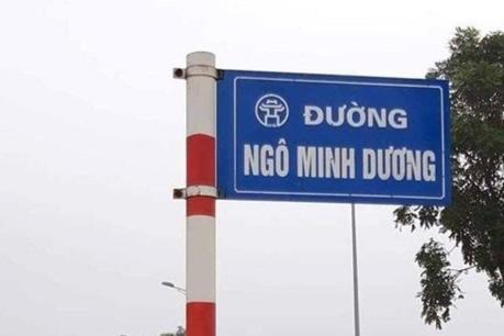 Hà Nội yêu cầu dỡ biển tên đường tự phát Ngô Minh Dương