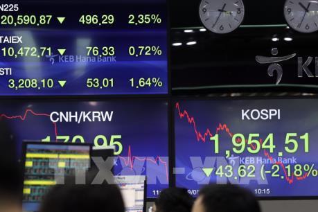 Hầu hết các thị trường châu Á đi xuống phiên chiều 30/9